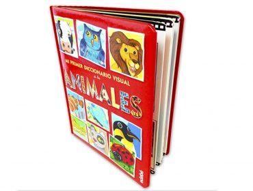 libro de cartón con tapa dura y acolchada