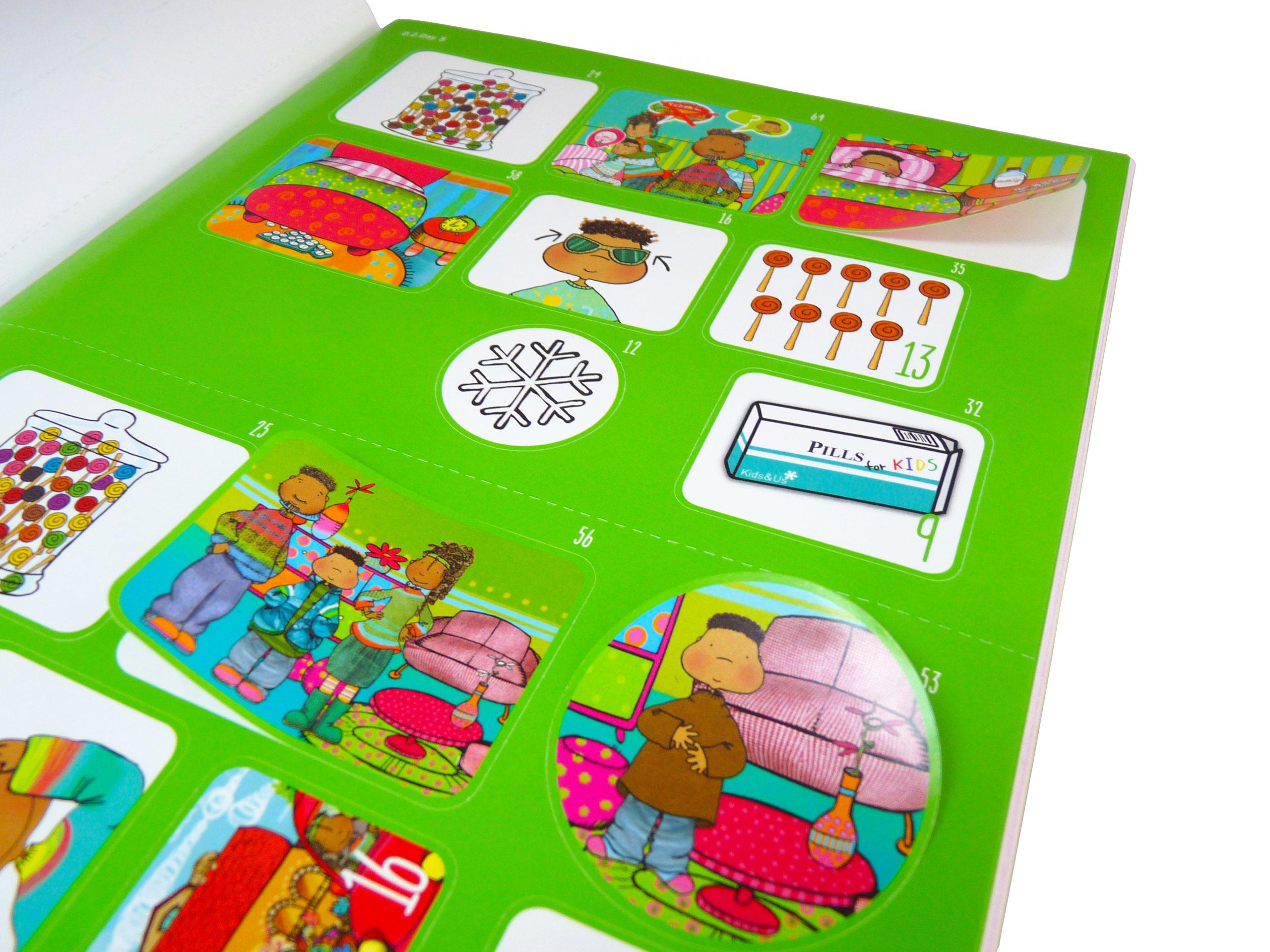 libro de adhesivos troquelados - Libro adhesivos 3