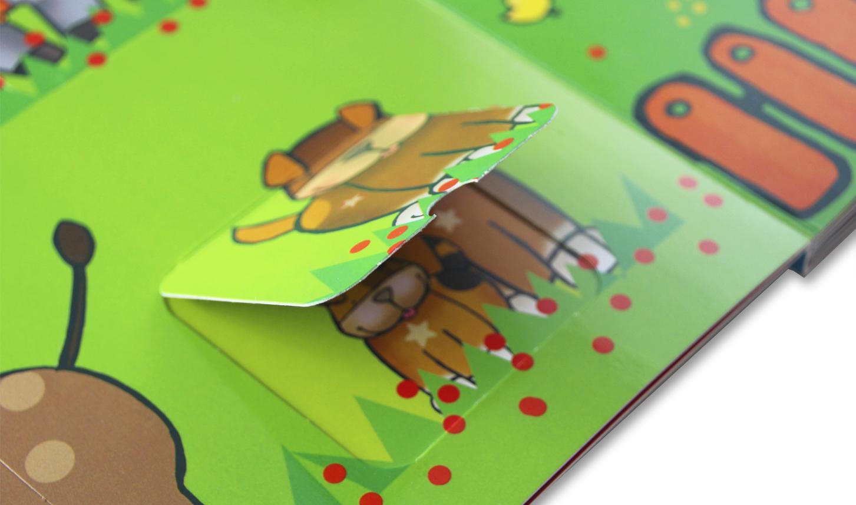 libro de cartón con ventanas
