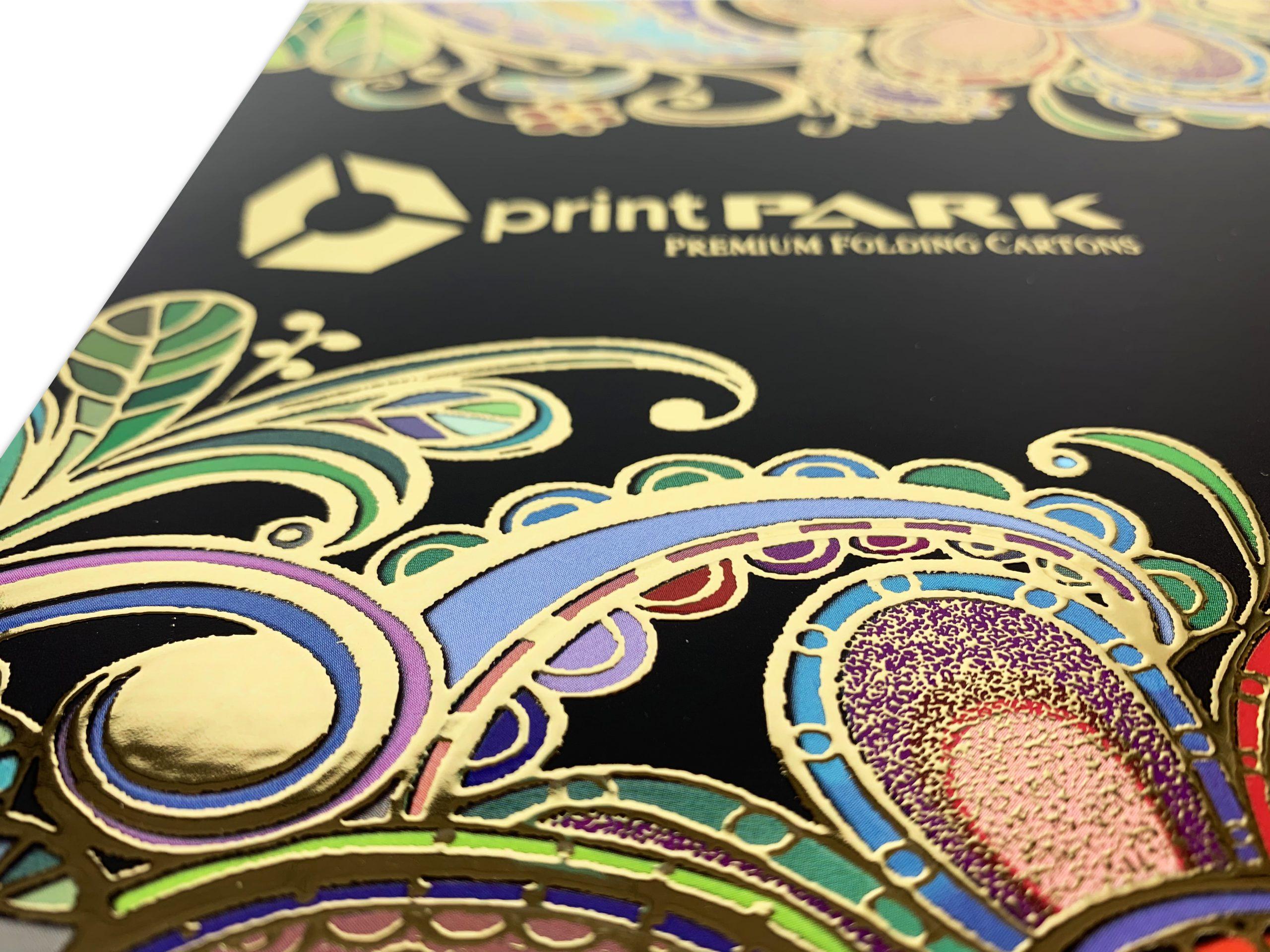 impresión con stamping y relieves